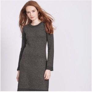 Boden Gray Claudie Wool Flare Sleeve Sweater Dress